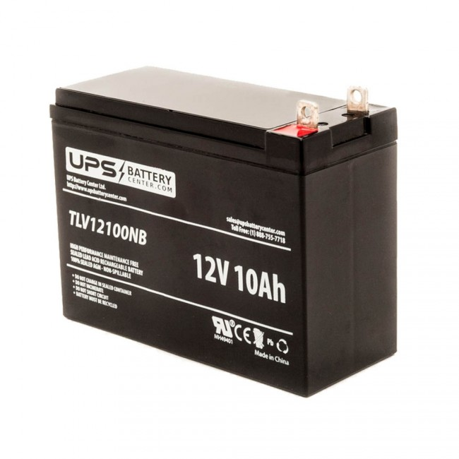 Lead Acid Battery >> 12v 10ah Battery With Nut Bolt Terminals L 5 95 X W 2 56 X H 4 37
