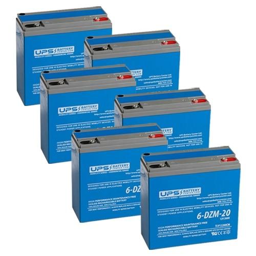 12v Deep Cycle Battery >> 72V 20Ah eBike Battery Set - 12V 20Ah - 6-DZM-20