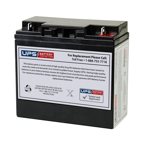 UPSBatteryCenter 12V 18Ah F3 Compatible Replacement Battery for AJC D18S D18S