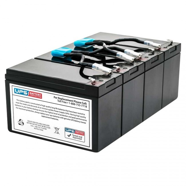 UPSBatteryCenter Compatible Replacement Battery Pack for APC Smart UPS 1400 RM 2U SU1400RMI2U