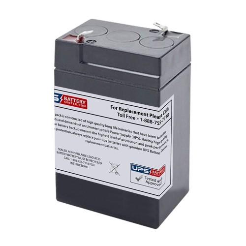 BB BP4-6 New Battery by UPSBatteryCenter 6V 4.5Ah F1