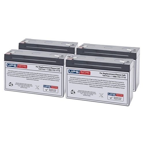 Replacement Battery Rechargeable, high Rate 4 x 6V12Ah Compaq T1000