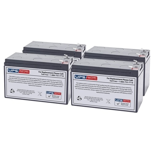 para Systems//Minuteman ED1500RM2U New Compatible Replacement Batteries