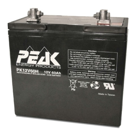 pk12v60h 12v 60ah peak energy battery. Black Bedroom Furniture Sets. Home Design Ideas