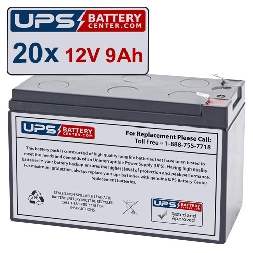 PowerVar Sinergy III Series Battery Cabinet 6000 VA High Voltage E240-22-A  Compatible Replacement Battery Set