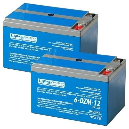 Shoprider Regal Chameleon GK83/GK84 24V 12Ah Replacement Batteries