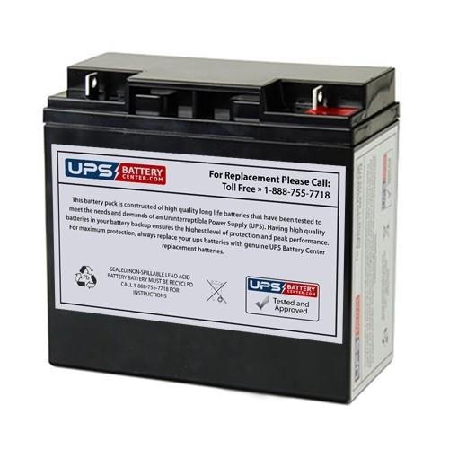 12v 20ah Sealed Lead Acid Battery With Nut Bolt F3 Terminals