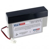 TLV1208 - 12V 0.8Ah Sealed Lead Acid Battery with J2 Terminals