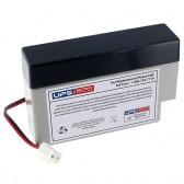 TLV1208 - 12V 0.8Ah Sealed Lead Acid Battery with J2 Terminals