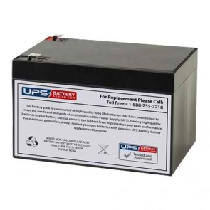 JASCO 12V 12Ah RB12120 Battery with F2 Terminals