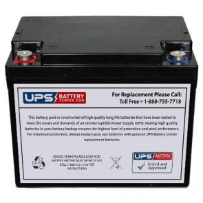 Plus Power PP12-38 F11 insert Terminals 12V 38Ah Battery