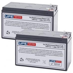 Potter Electric PFC-7500 (Set of 2) 12V 9Ah Batteries