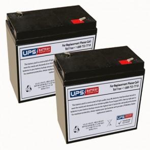 Datex-Ohmeda Transport Isolette Batteries - Set of 2
