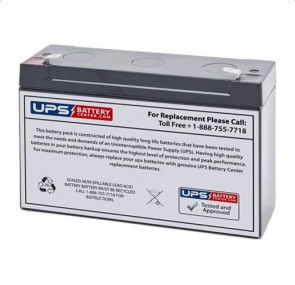 Ohio 5380 6V 12Ah Battery