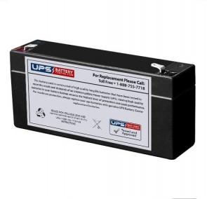 Pace Tech Vitalmax 2200 ECG Monitor 6V 3Ah Battery