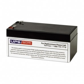 Acumax 12V 3.4Ah AM3.4-12 Battery with F1 Terminals