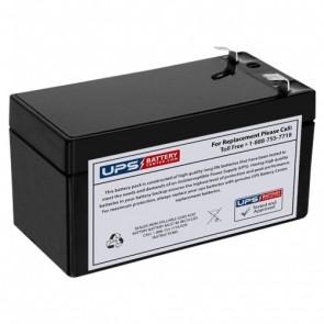 BatteryMart 12V 1.3Ah SLA-12V1-3 Battery with F1 Terminals