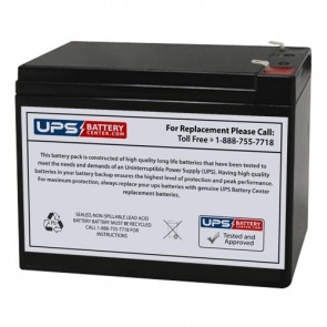 BatteryMart 12V 10Ah SLA-12V10-F2 Battery with F2 Terminals