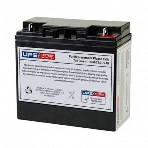 BatteryMart 12V 18Ah SLA-12V18 Battery with F3 Terminals