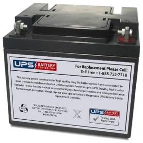 BatteryMart 12V 40Ah SLA-12V40 Battery with F6 Terminals
