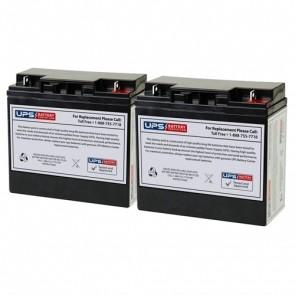 Best Power Fortress Rack Mount LI 1020 BAT-0058 Compatible Replacement Battery Set