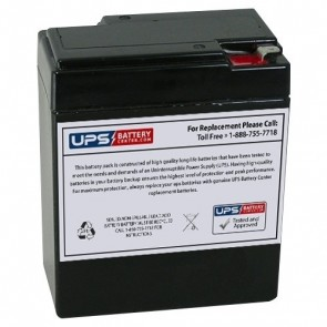 Bosfa 6V 9Ah DC6-9 Battery with F1 Terminals
