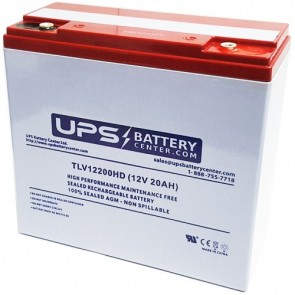 CBB 12V 20Ah DC20-12 Battery with M5 Insert Terminals