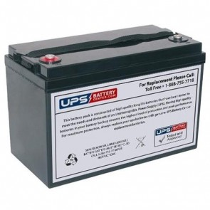 CCB Industrial 12V 100Ah 12HD-370 Battery with M8 Terminals