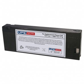 Critikon Dinamap Plus 8700, 8710, 8720, 8725, 9700, 9710, 9720 12V 2.3Ah Medical Battery with PC Terminals
