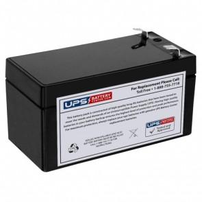 Diamec 12V 1.3Ah DM12-1.3 Battery with F1 Terminals