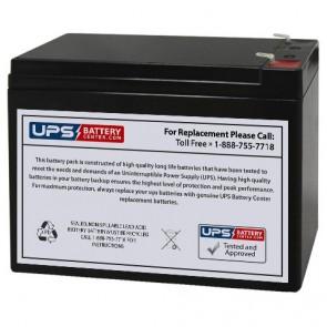 Diamec 12V 10Ah DM12-10 Battery with F1 Terminals