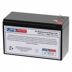 Diamec 12V 7.5Ah DM12-7.5 Battery with F1 Terminals