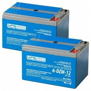 Drive Medical Spitfire EX2 4-Wheel 24V 12Ah Battery Set