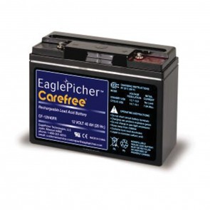 EaglePicher 12V 40Ah CF-12V40FR Battery with Insert Threaded Terminals