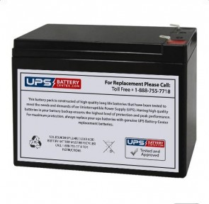EMERGI-LITE 12V 10Ah 120 Battery with F1 Terminals