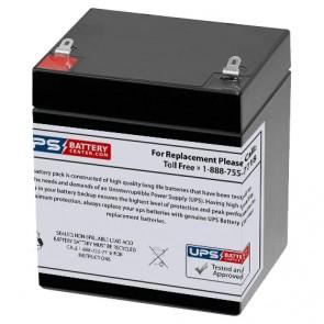 EMERGI-LITE 12V 5Ah 12JSM Battery with F1 Terminals