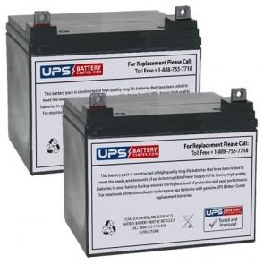 Emmo T300 24V 33Ah Battery Set