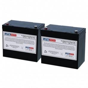 Emmo T360 Mobility 24V 55Ah Battery Set