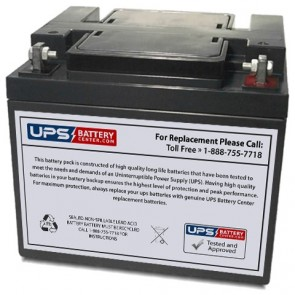 Energy Power 12V 38Ah EP-SLA12-38L Battery with F6 - Nut & Bolt Terminals