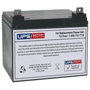 Exit Light Company 12V 35Ah EL-MR16-SQ-ST Battery with NB Terminals