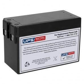 F&H 12V 2.5Ah UN2.5-12S Battery with F1 Terminals