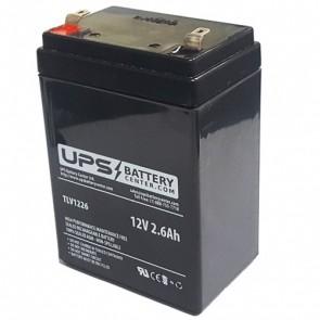 F&H 12V 2.6Ah UN2.6-12S Battery with F1 Terminals