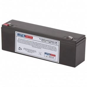F&H 12V 4Ah UN4-12L Battery with F1 Terminals