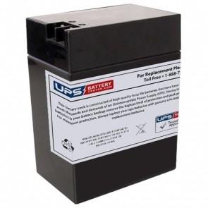 F&H 6V 14Ah UN14-6T Battery with +F2 -F1 Terminals