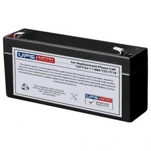 F&H 6V 3.2Ah UN3.2-6 Battery with F1 Terminals