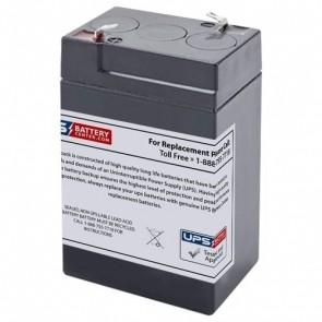 F&H 6V 4.5Ah UN4.5-6 Battery with F1 Terminals