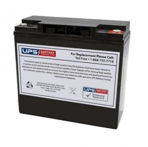 FIAMM 12V 17Ah 12FGL17 Battery with M5 Insert Terminals