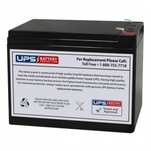 Gaston 12V 10Ah GT12-10HR Battery with F2 Terminals