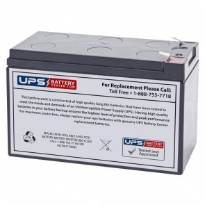 Gruber Power 12V 9Ah 58AGPS-12-9-F2 Battery with F2 Terminals