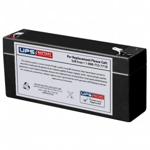 GS Portalac 6V 3.5Ah PE6V3A Battery with F1 Terminals